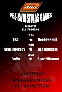 NHL Pre-Christmas Games lauantaina 15.12.2018